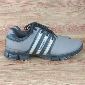 Adidas Tour 360 Gray Golf Shoes Leather Cleats 9.5